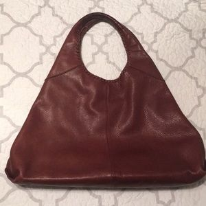 Banana Republic Pebbled Leather Large Hobo Bag